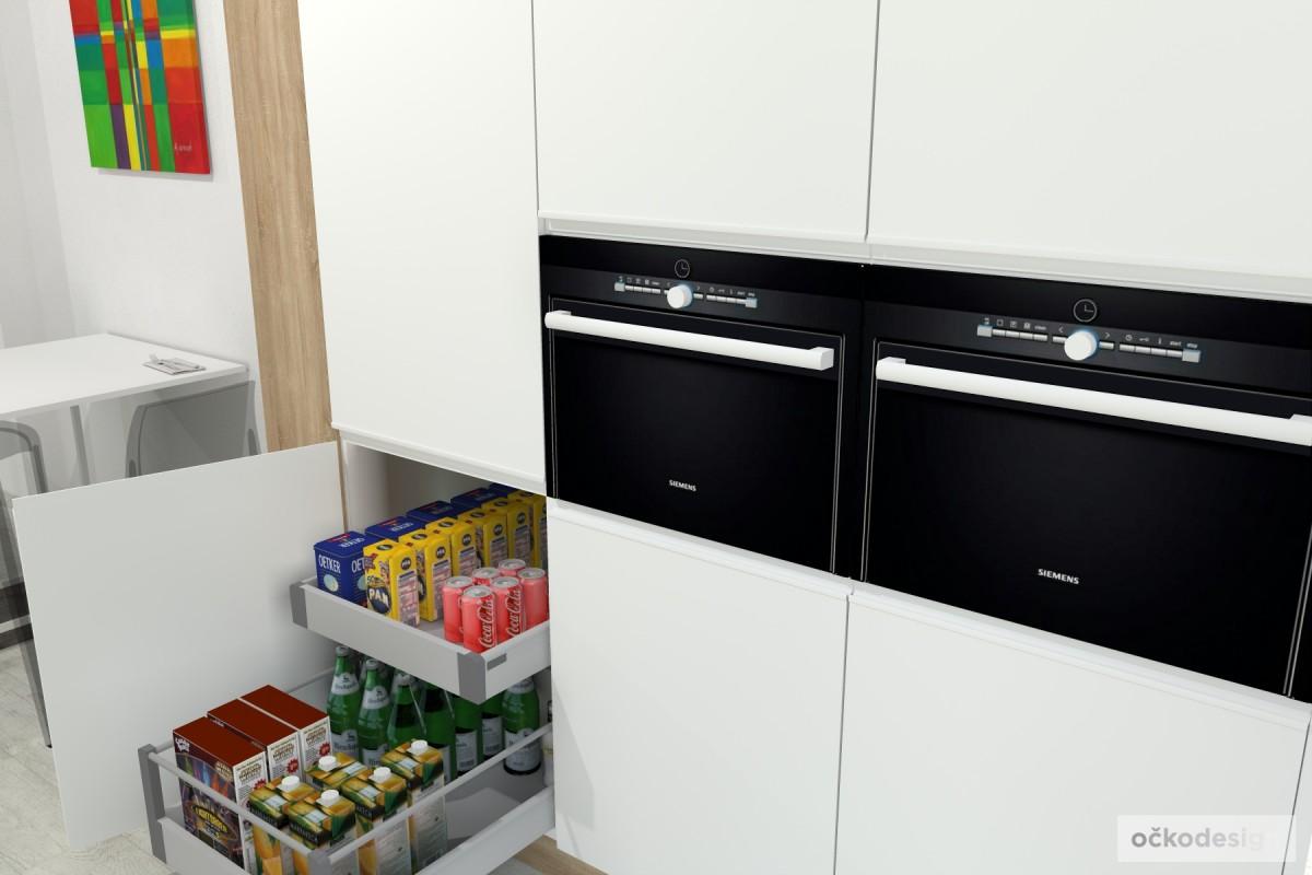 spižní skříň, jak navrhnout kuchyň, uložné prostory v kuchyni