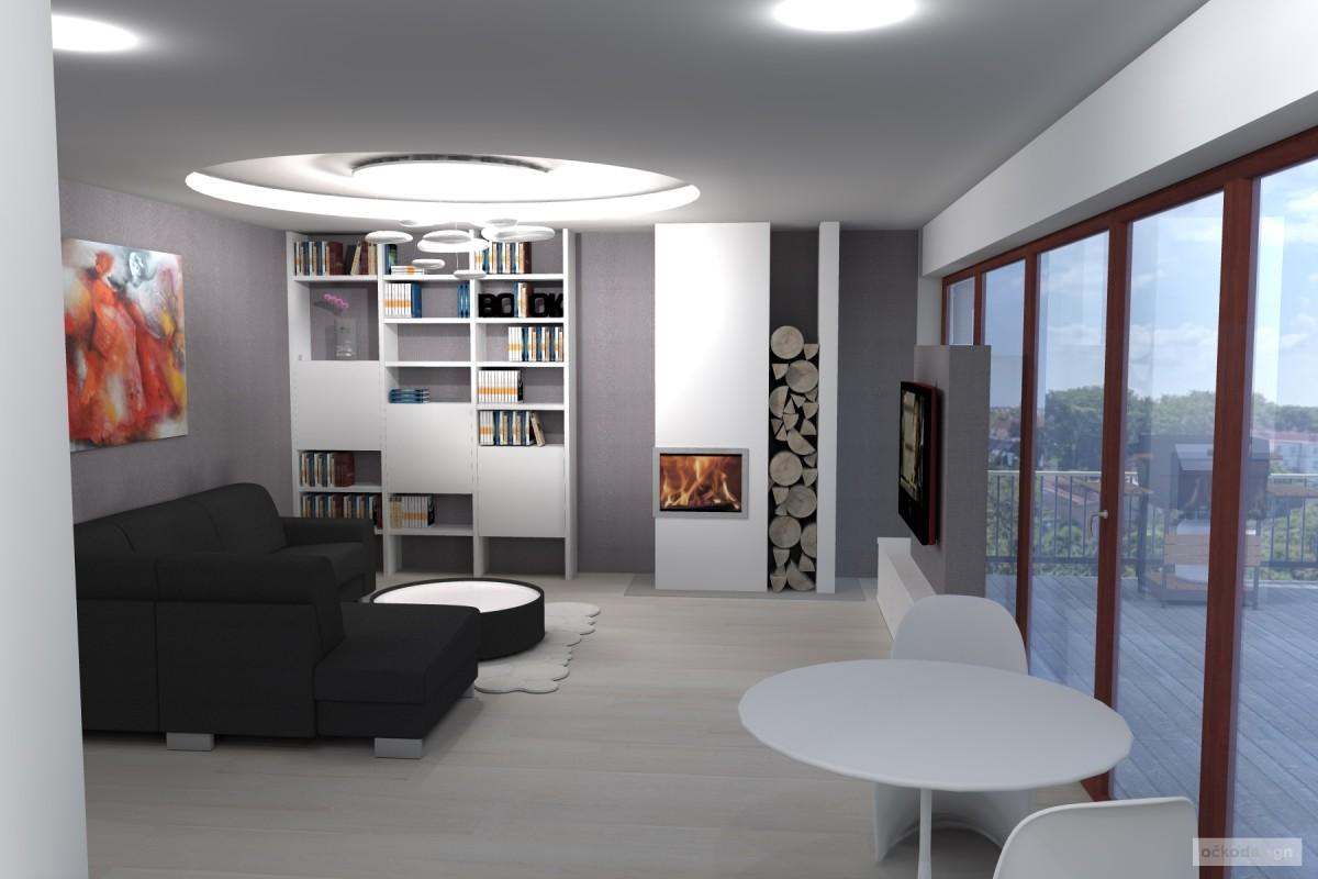 designová kuchyň,moderní obývák, rezidence wellnerova švýcarská 8