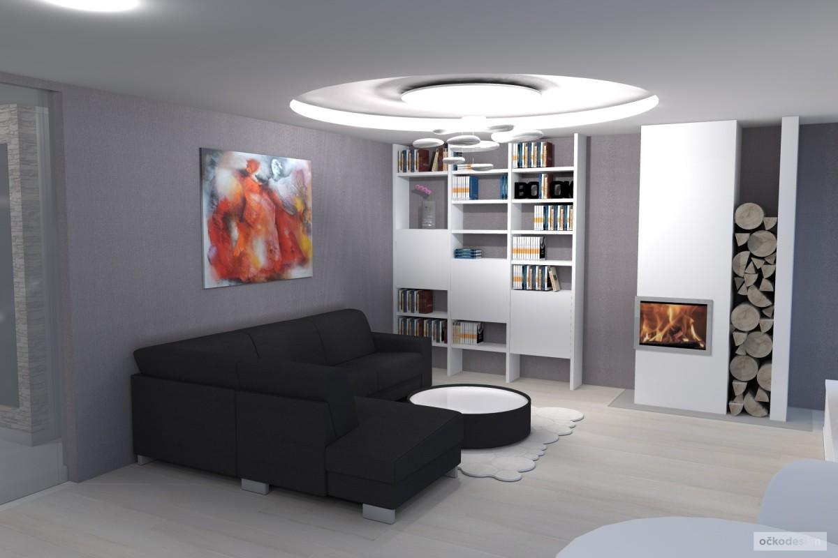 designová kuchyň,moderní obývák, rezidence wellnerova švýcarská 9