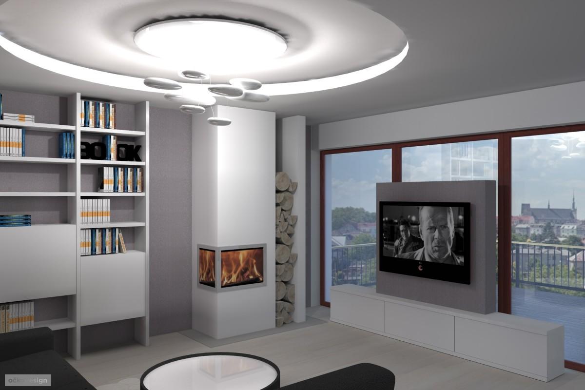 designová kuchyň,moderní obývák, rezidence wellnerova švýcarská15
