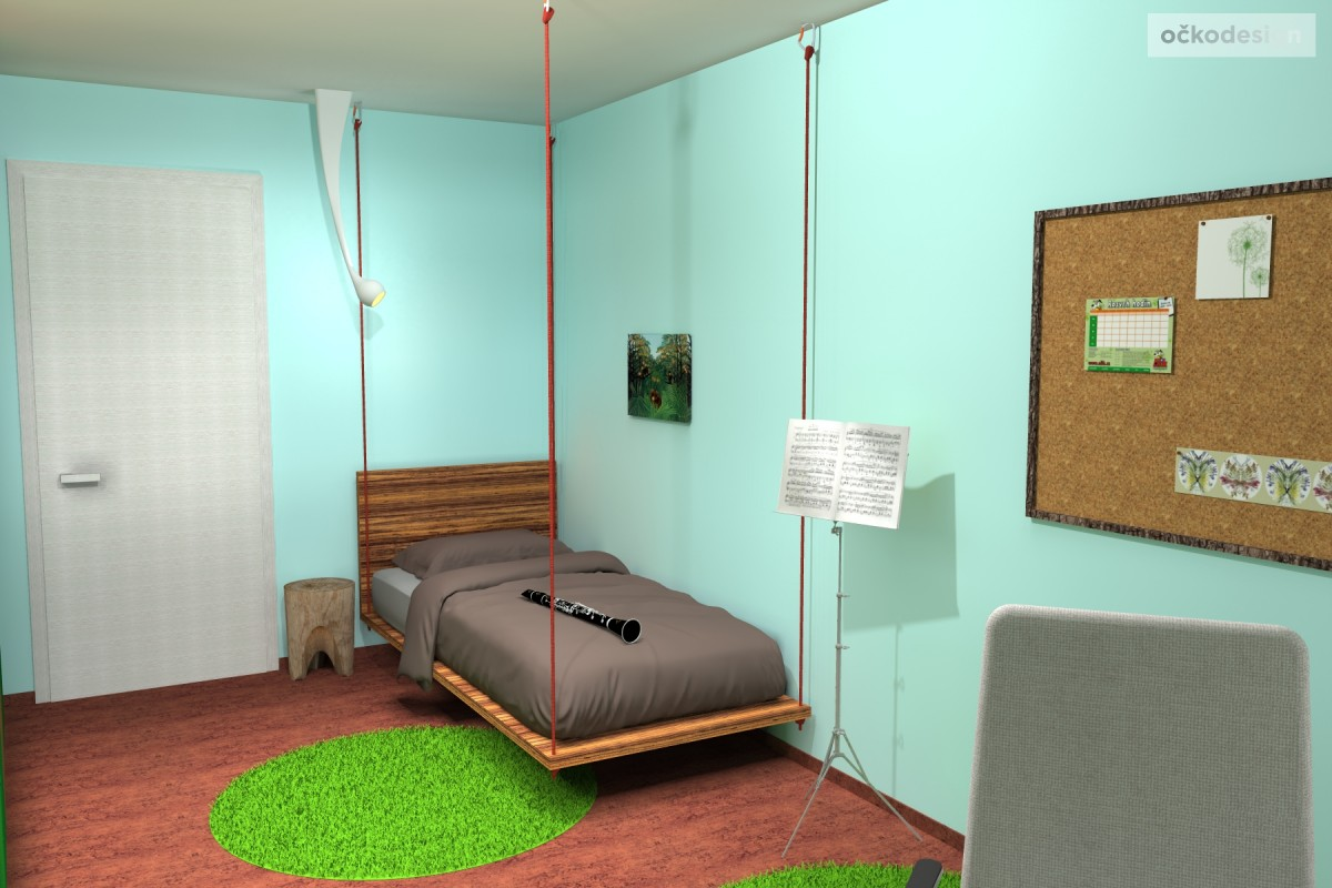 designovy detsky pokoj, moderni studentske pokoje jak navrhnout byt 8
