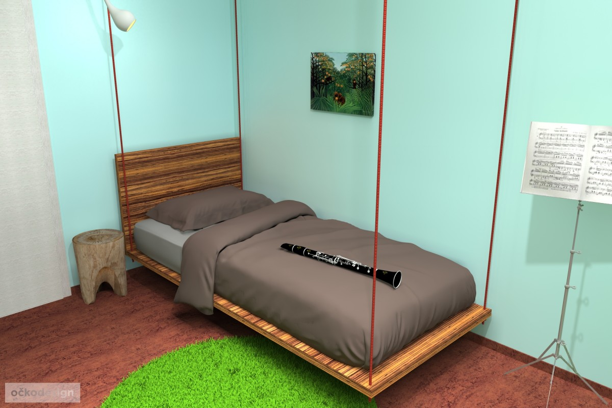 designovy detsky pokoj, moderni studentske pokoje jak navrhnout byt 9