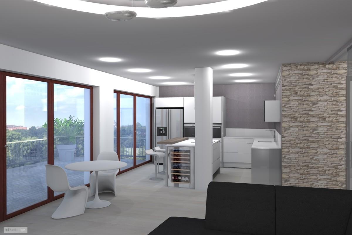 kuchyňský ostrůvek, designová kuchyň,moderní obývák 1