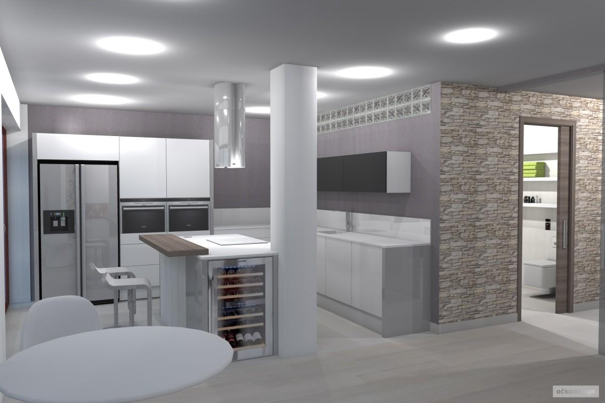 kuchyňský ostrůvek, designová kuchyň,moderní obývák 2
