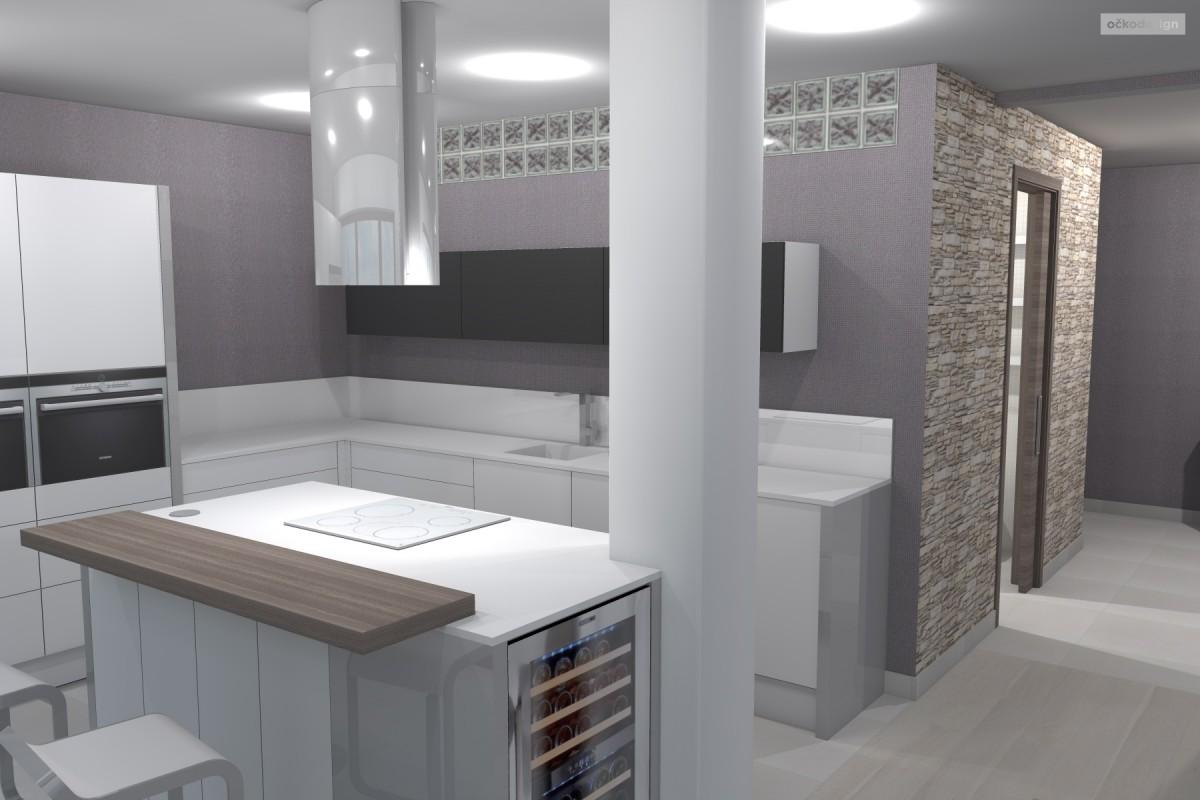 kuchyňský ostrůvek, designová kuchyň,moderní obývák 4