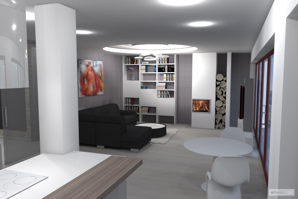 kuchyňský ostrůvek, designová kuchyň,moderní obývák 7