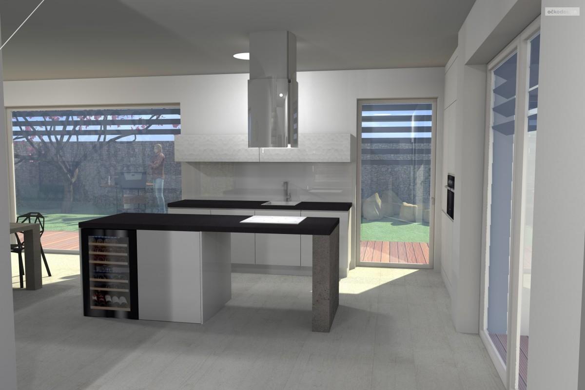 bytový designer. Interiérový architekt Praha, 3D návrhy rezidencí, Moderní kuchyně, designové obývací