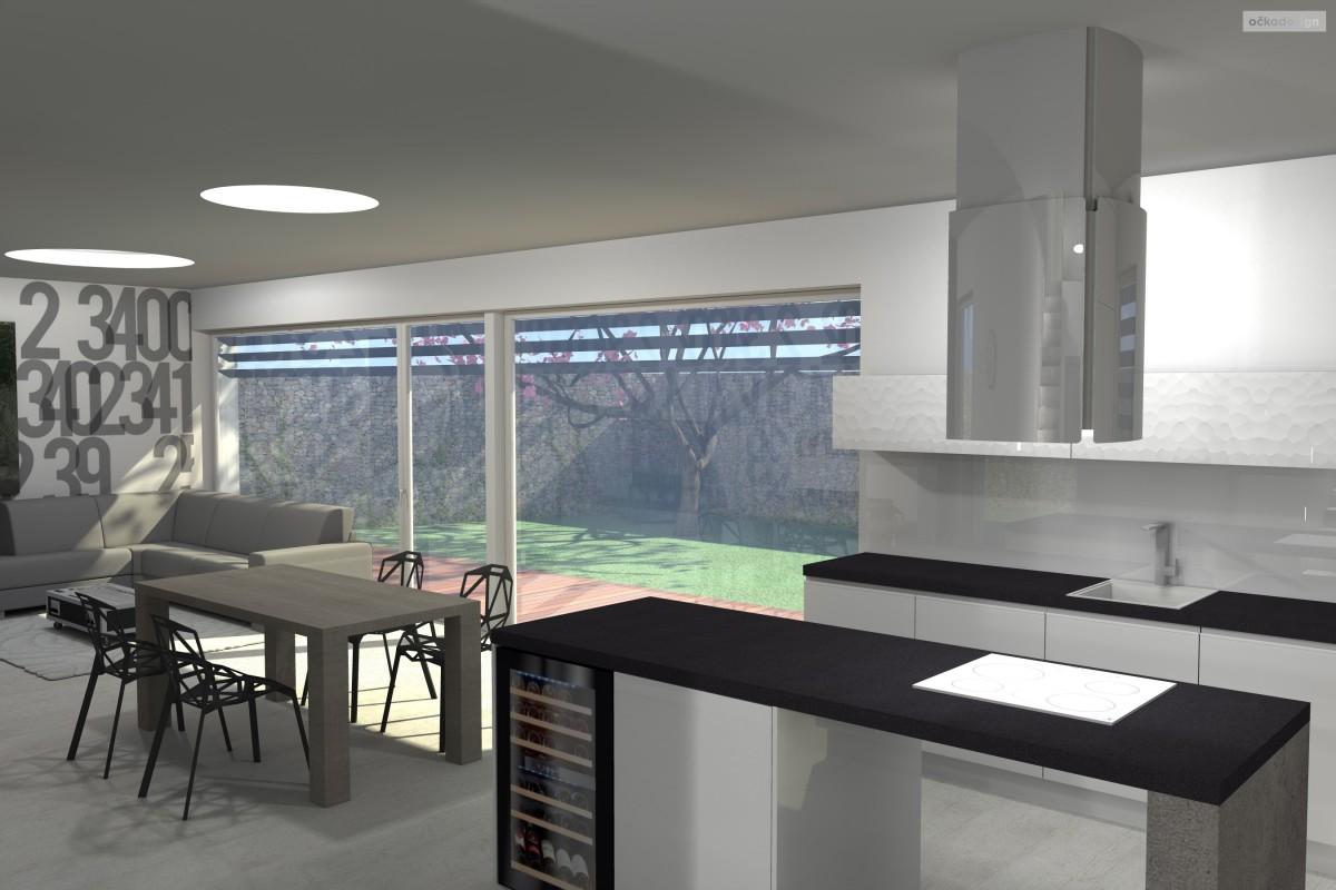 bytový designer. Interiérový architekt Praha, 3D návrhy rezidencí, Moderní kuchyně, designové obývací pokoje
