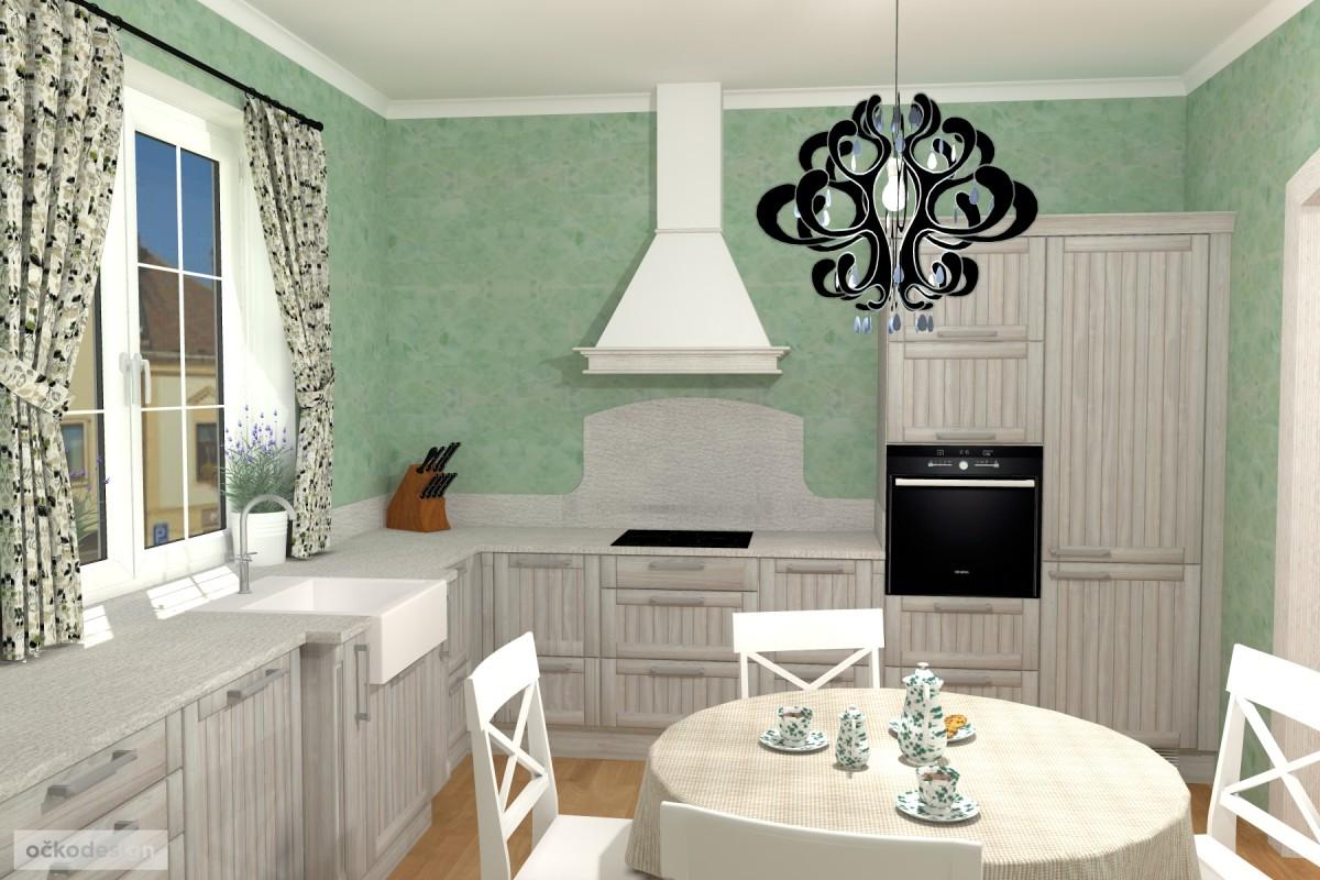 3D návrhy-klasické kuchyně-moderní interiéry 1
