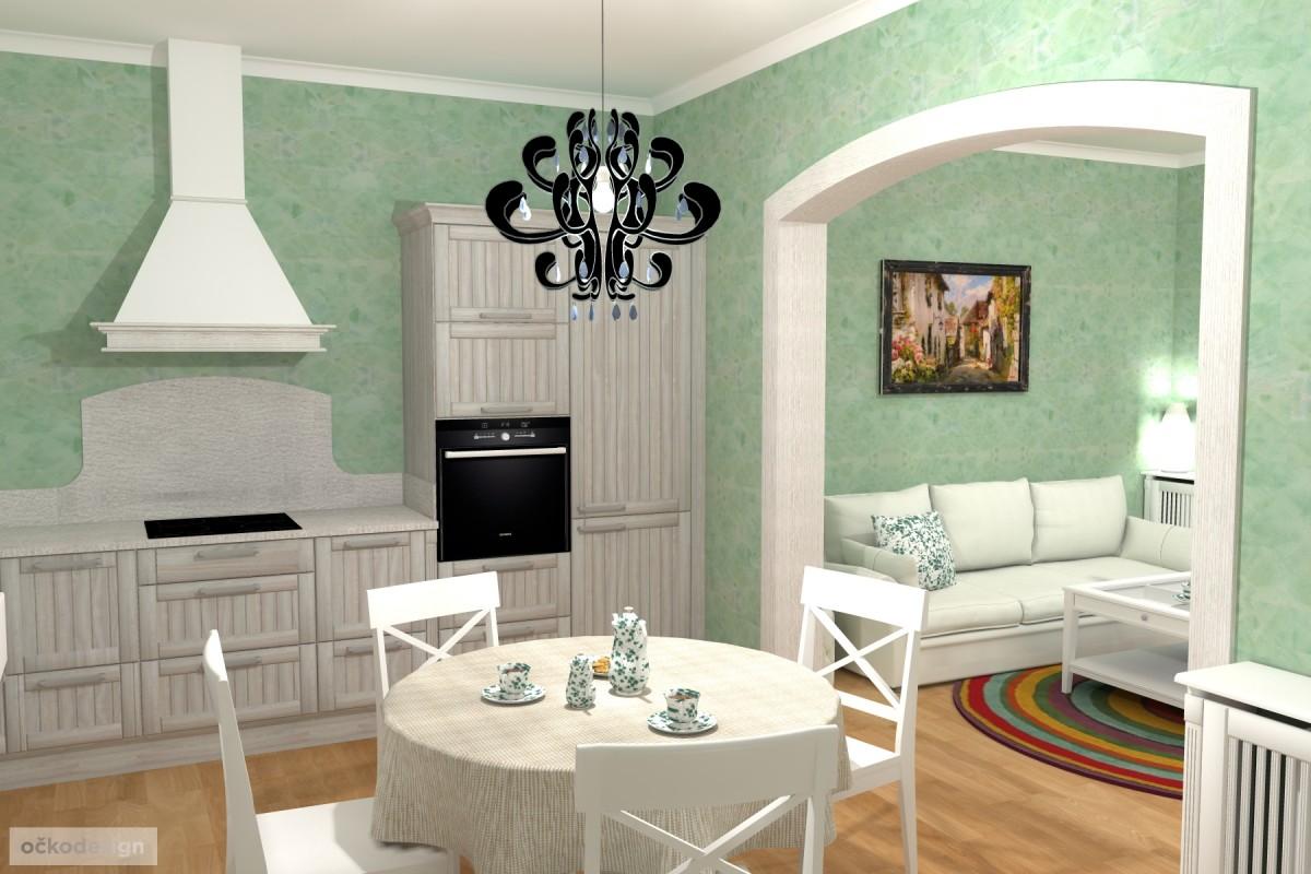 3D návrhy-klasické kuchyně-moderní interiéry 3