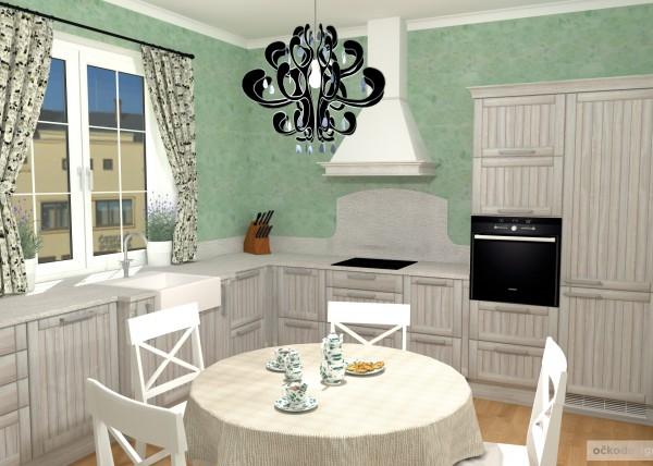 3D návrhy-klasické kuchyně-moderní interiéry 4