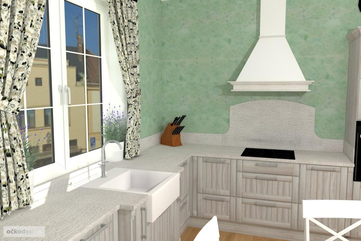 3D návrhy-klasické kuchyně-moderní interiéry 5