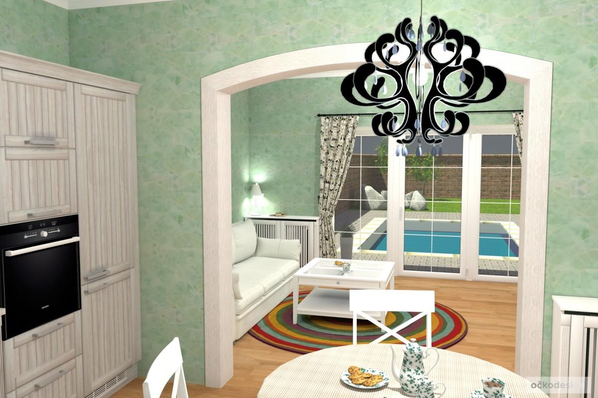 3D návrhy-klasické kuchyně-moderní interiéry 6