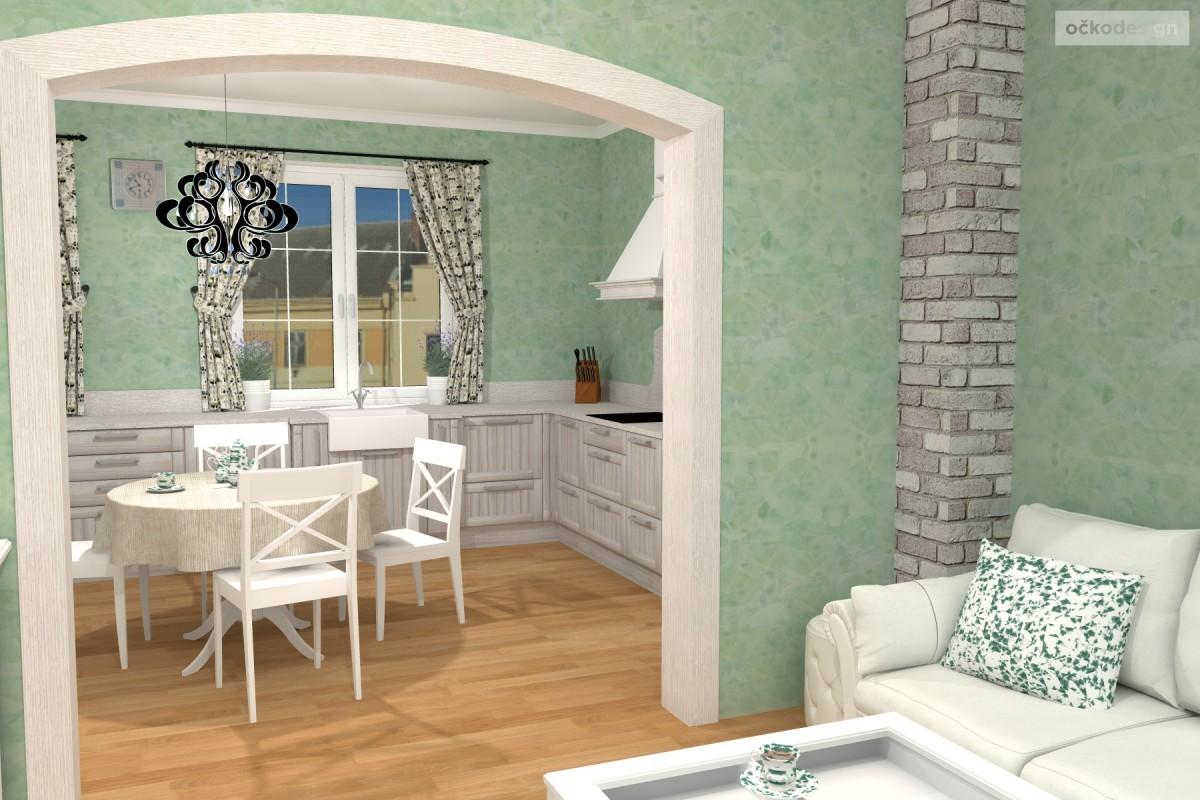 3D návrhy-klasické kuchyně-provence styl 10