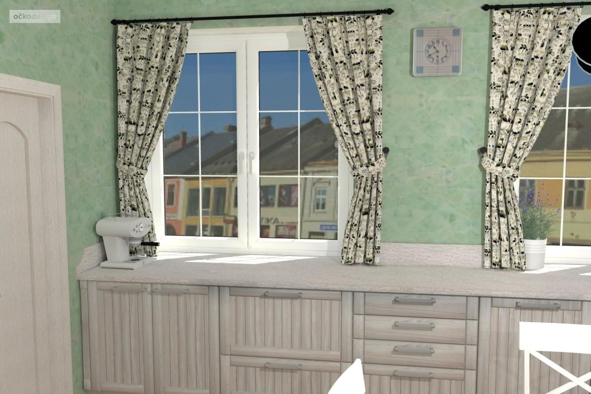 3D návrhy-klasické kuchyně-provence styl 13