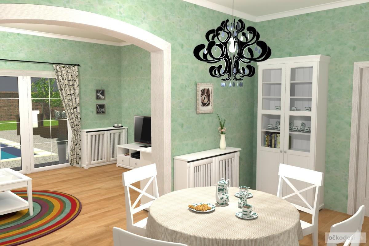 3D návrhy-klasické kuchyně-provence styl 7