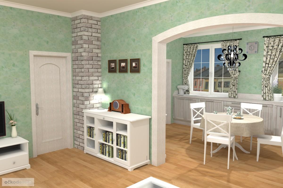 3D návrhy-klasické kuchyně-provence styl 9