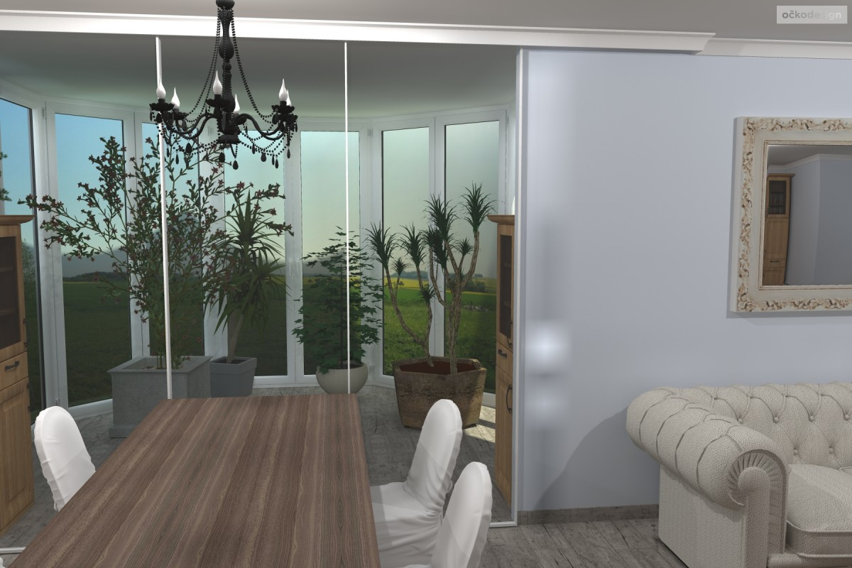 Interiér v romantické stylu, provensálský styl,3D návrhy interiérů 0