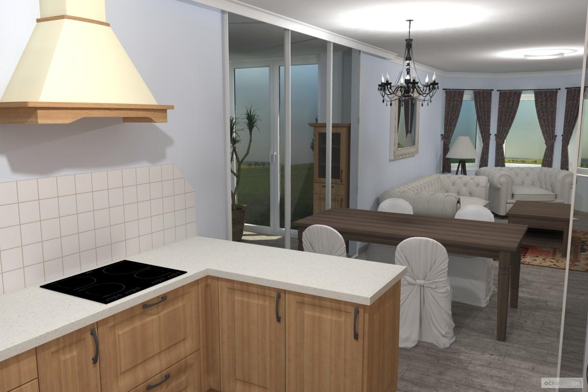 Interiér v romantické stylu, provensálský styl,3D návrhy interiérů 10