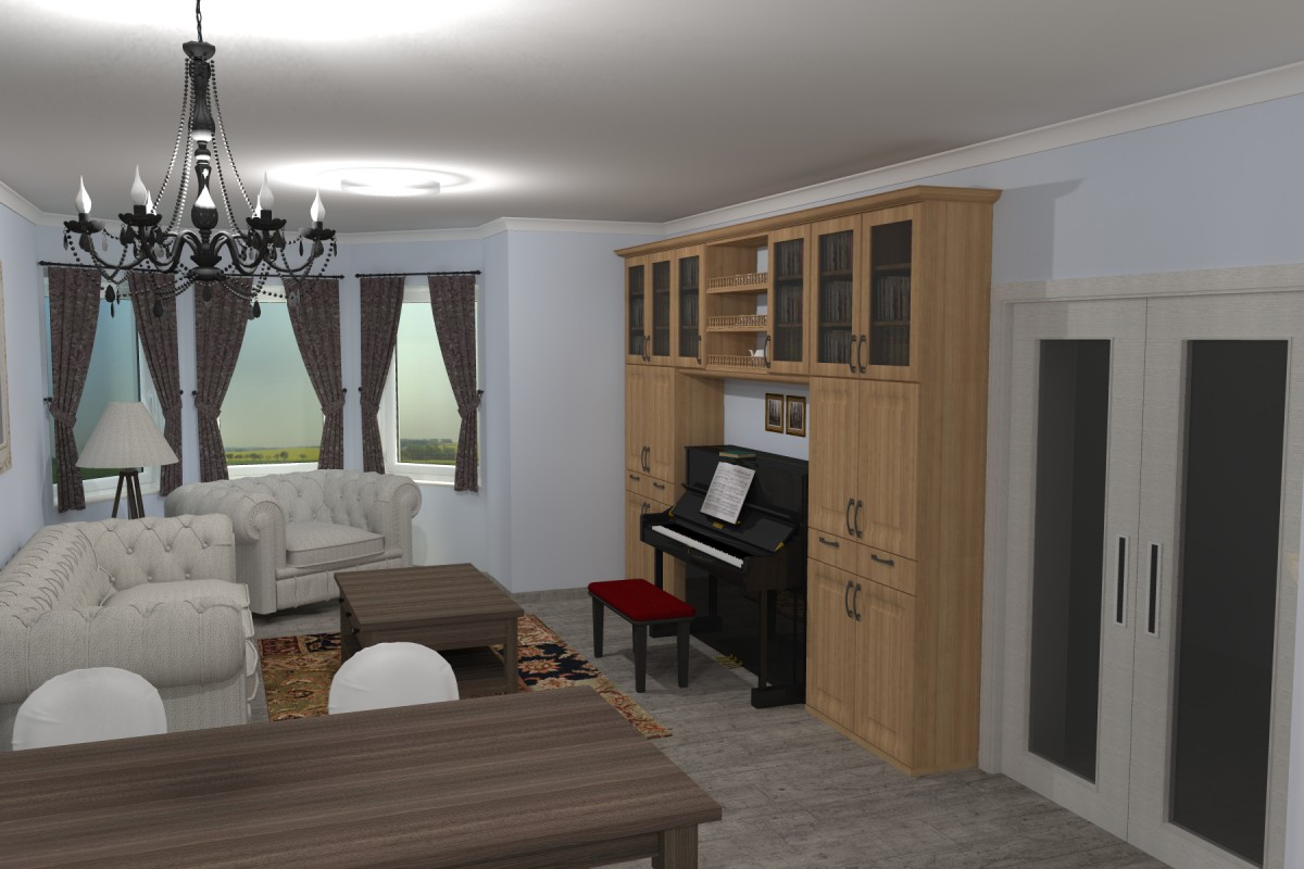 Interiér v romantické stylu, provensálský styl,3D návrhy interiérů 12