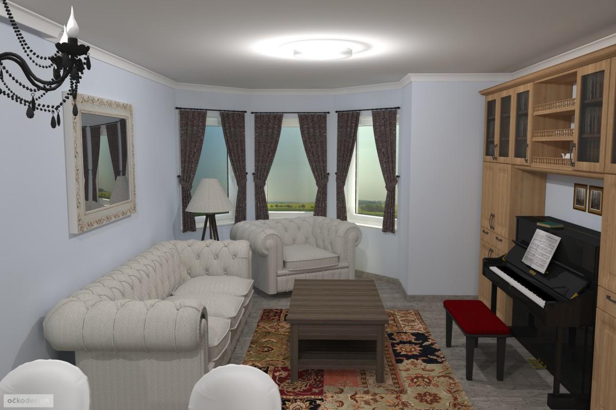 Interiér v romantické stylu, provensálský styl,3D návrhy interiérů 3