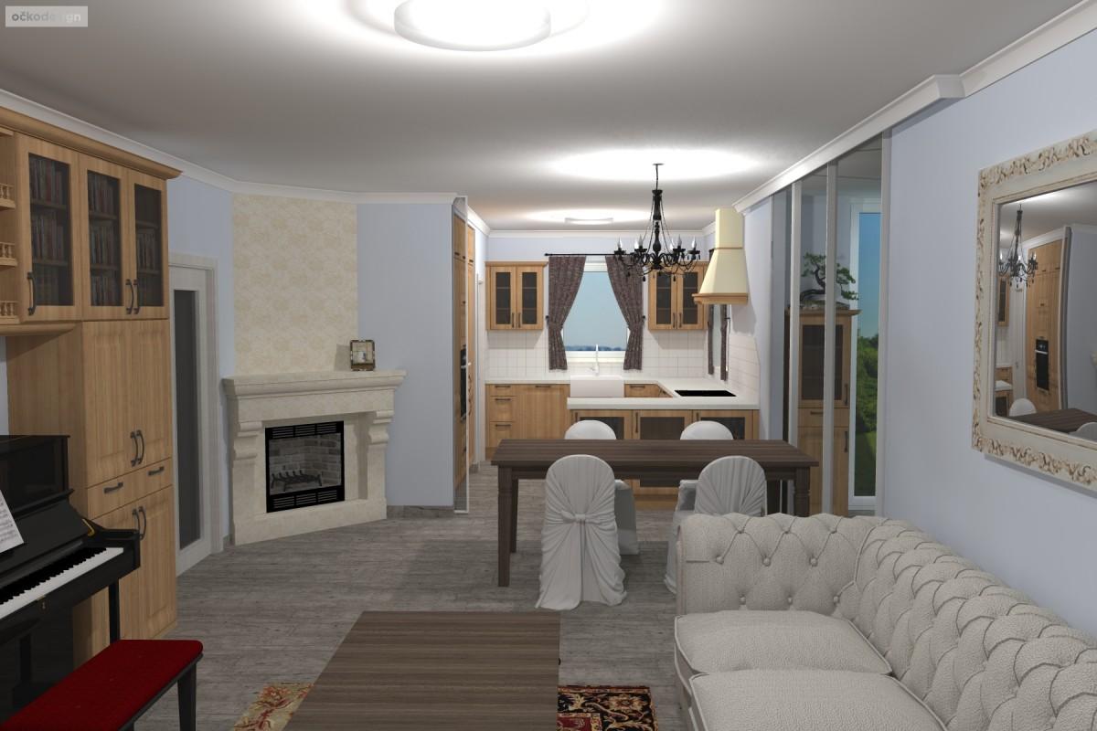 Interiér v romantické stylu, provensálský styl,3D návrhy interiérů 6