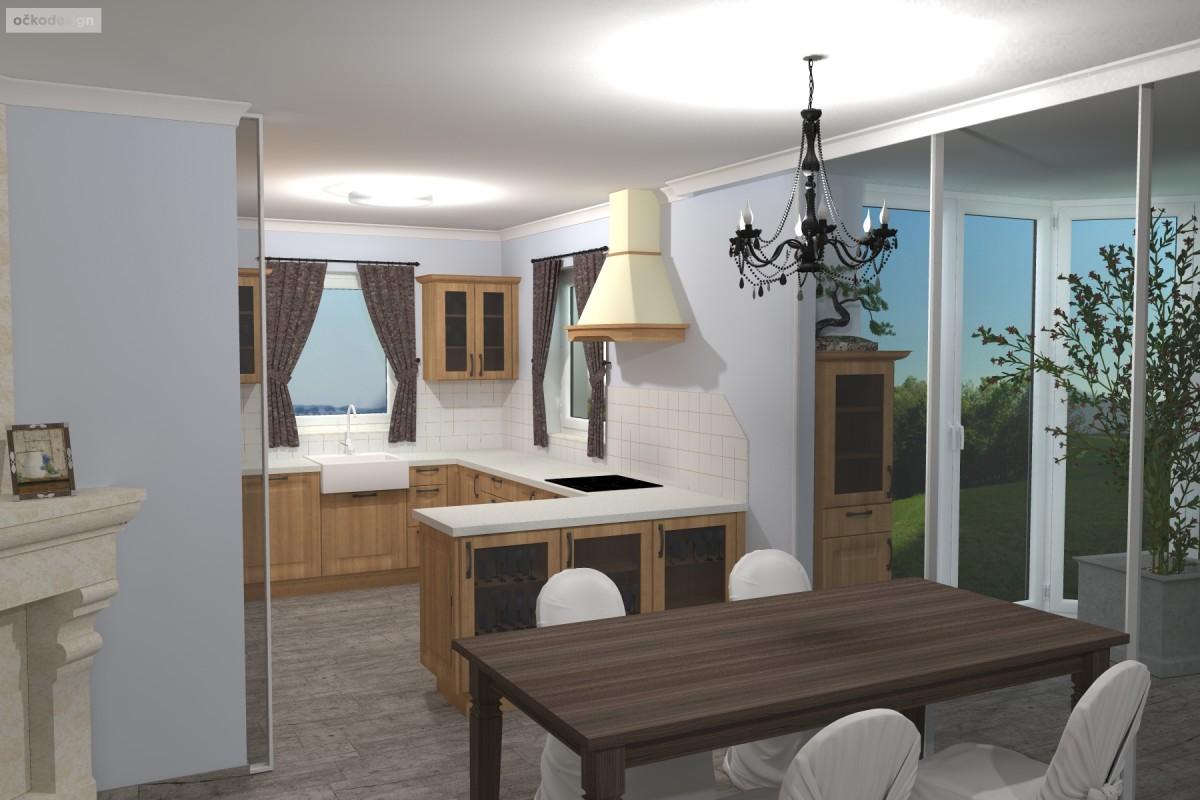 Interiér v romantické stylu, provensálský styl,3D návrhy interiérů 7
