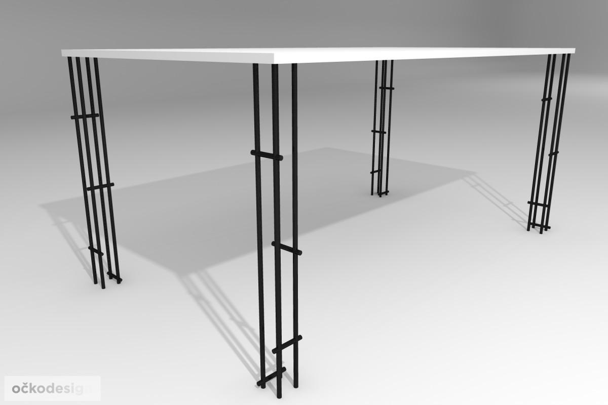 Jídelní stůl Lehký, produktový design,3D vizualizace 2