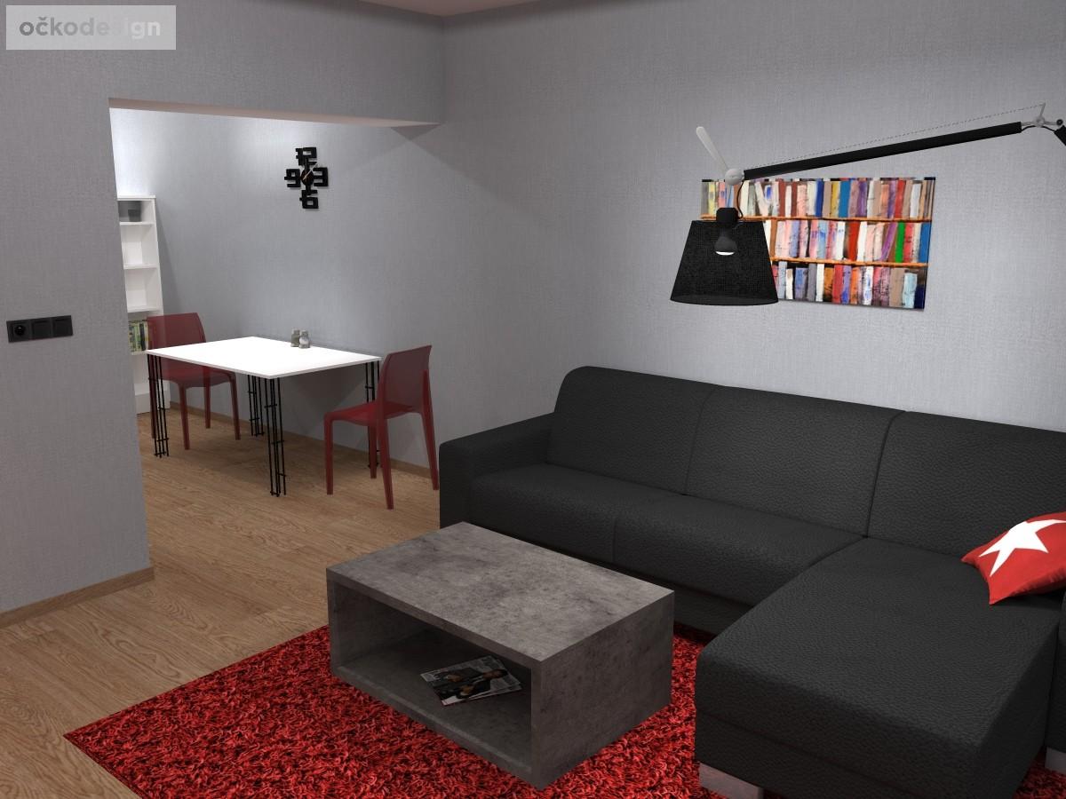 Jídelní stůl Lehký, produktový design,3D vizualizace 4