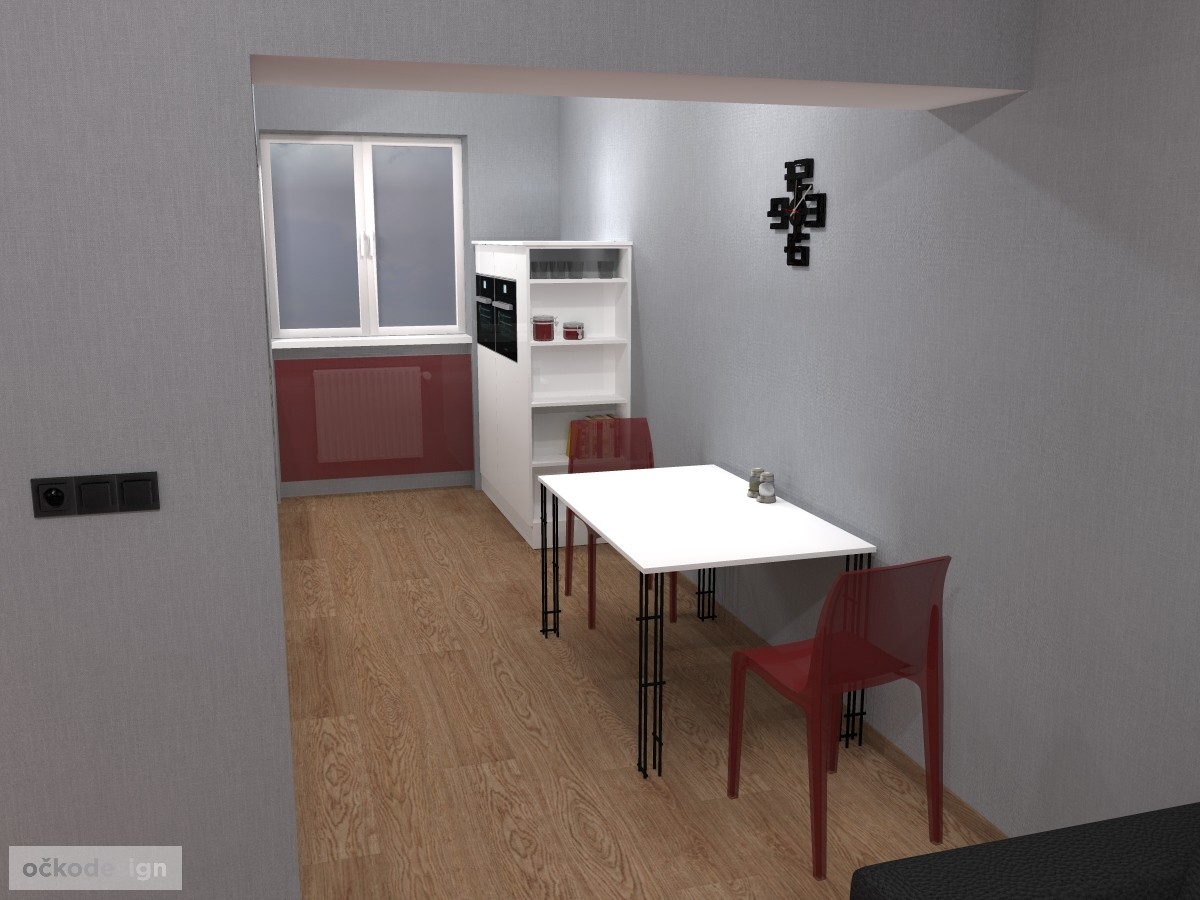 Jídelní stůl Lehký, produktový design,3D vizualizace 5
