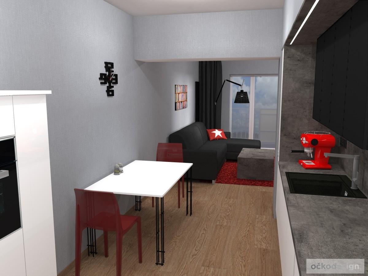 Jídelní stůl Lehký, produktový design,3D vizualizace 6