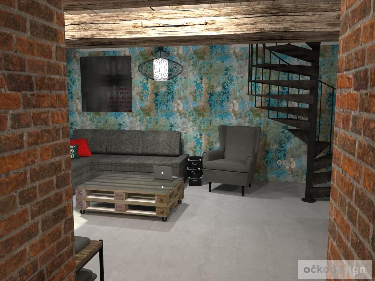 loftové byty, industriální styl,3d návrhy,Petr Molek, Bytový architekt Praha 1