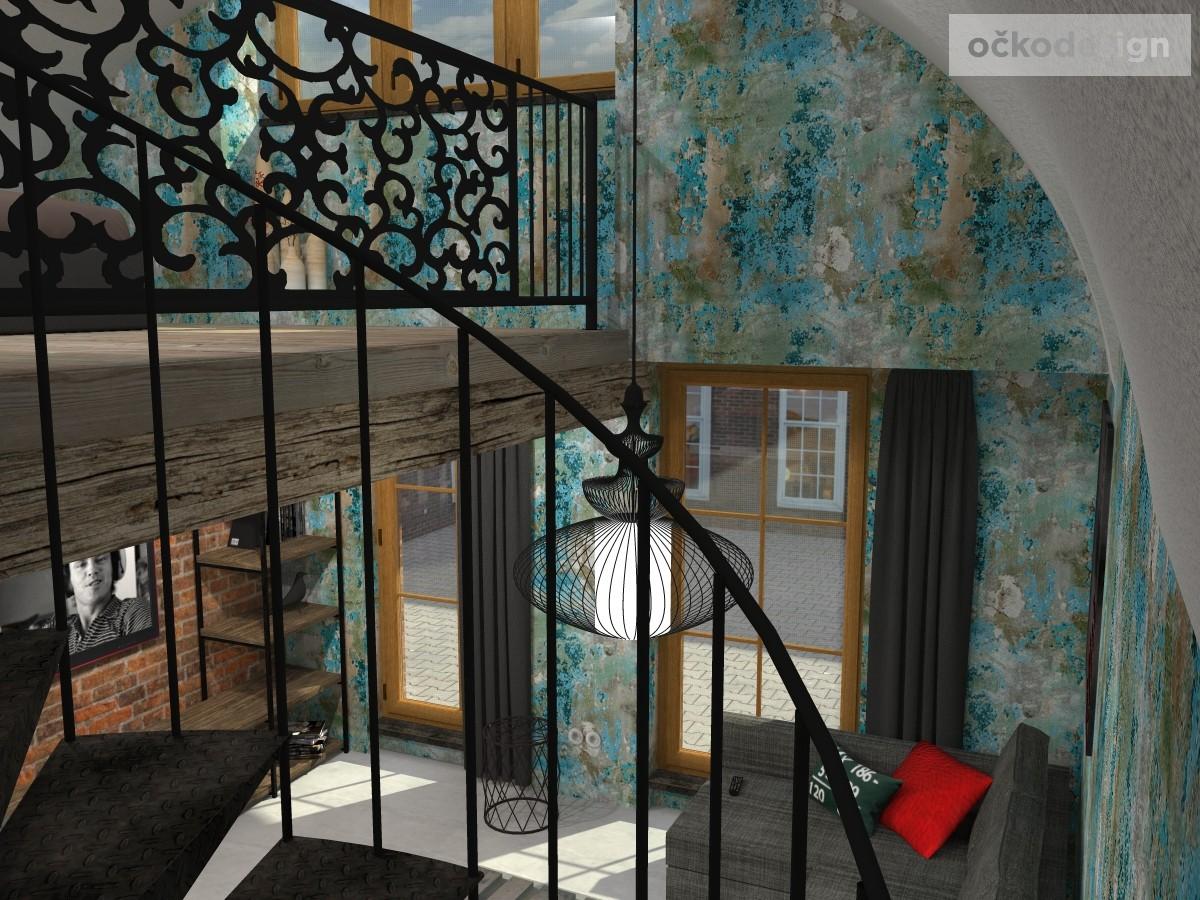 loftové byty, industriální styl,3d návrhy,Petr Molek, Bytový architekt Praha 11