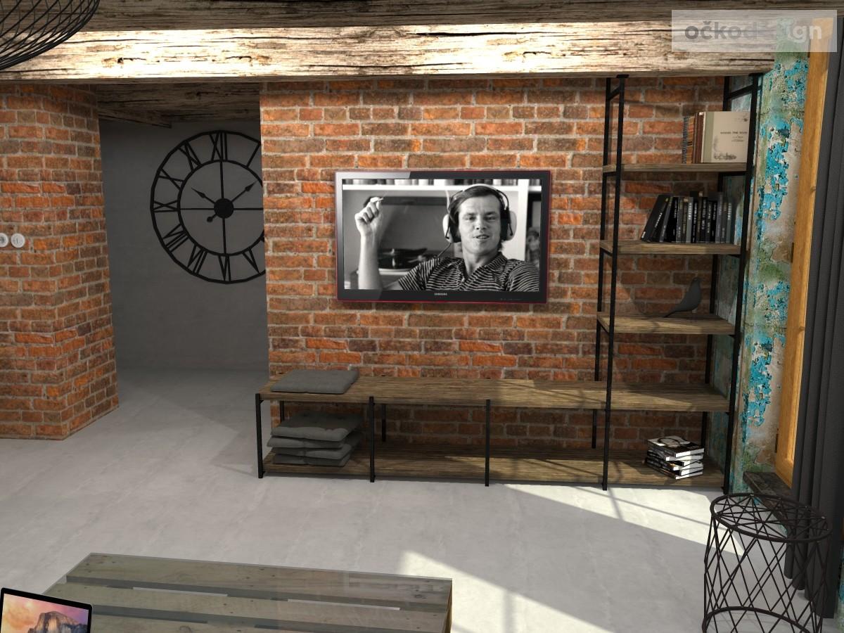 loftové byty, industriální styl,3d návrhy,Petr Molek, Bytový architekt Praha 6