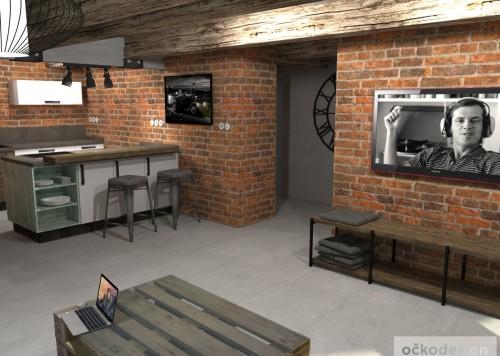 loftové byty, industriální styl,3d návrhy,Petr Molek, Bytový architekt Praha 7