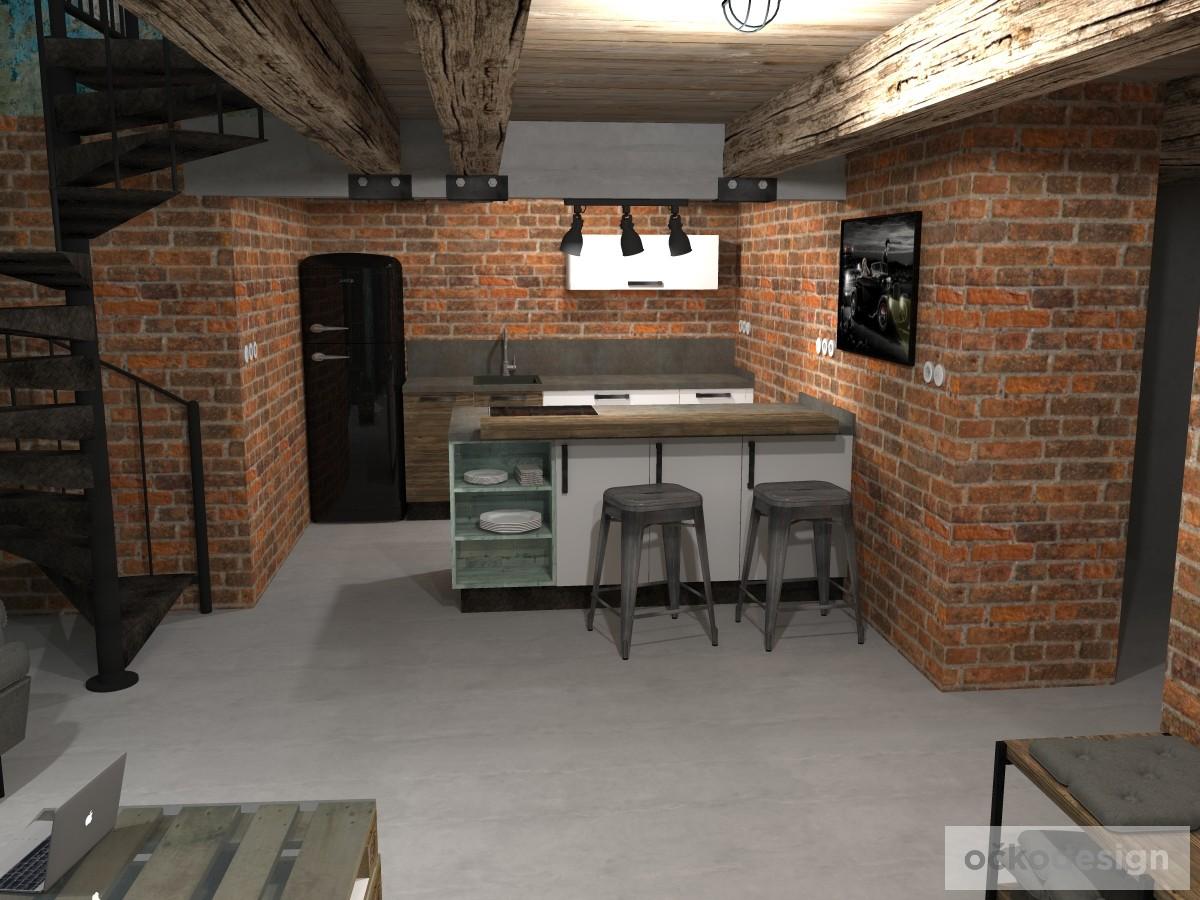loftové byty, industriální styl,3d návrhy,Petr Molek, Bytový architekt Praha 8
