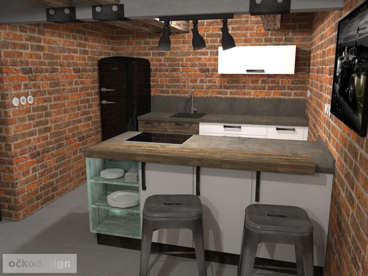 loftové byty, industriální styl,3d návrhy,Petr Molek, Bytový architekt Praha 9