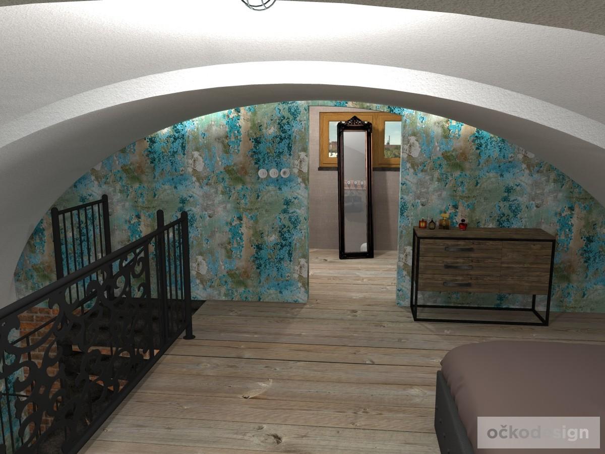 loftové byty, industriální styl,3d návrhy,Petr Molek, Bytový designer Praha 16