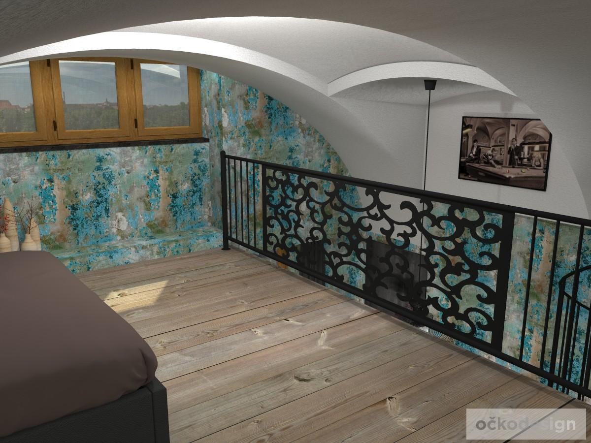 loftové byty, industriální styl,3d návrhy,Petr Molek, Bytový designer Praha 21