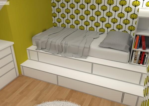 3d návrhy dětských pokojů, krásné interiéry,bytový designer Olomouc, Bytový architekt Praha
