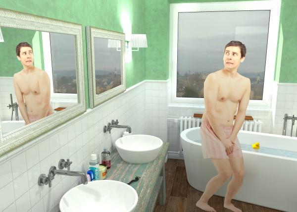 koupelna provence, jak navrhnout koupelnu