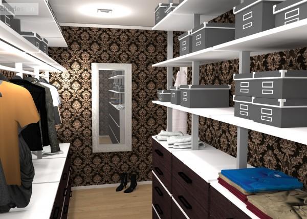 Krásné interiéry, samostatná šatna