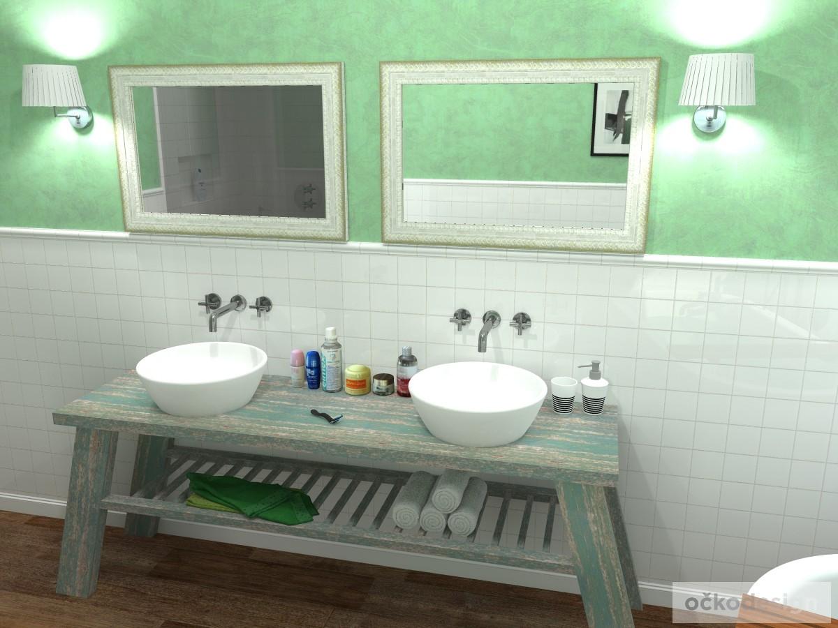 provence koupelny, koupelny v provensálském stylu, retro koupelny, koupelny inspirace