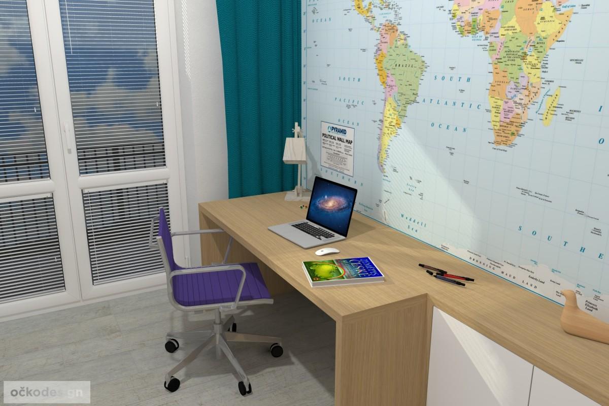 01 3D návrhy dětských pokojů-krásné studentské pokojíky-dětský pokoj-petr molek-ockodesign