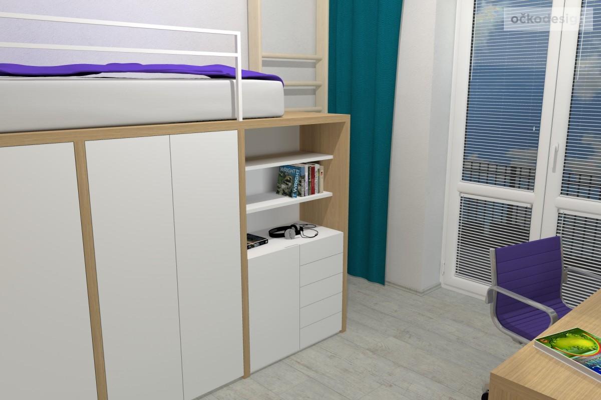 03 3D návrhy dětských pokojů-krásné studentské pokojíky-dětský pokoj-petr molek-ockodesign
