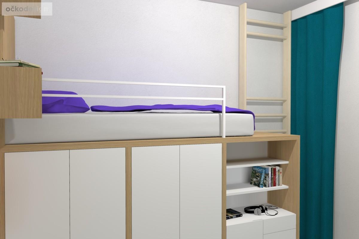 04 3D návrhy dětských pokojů-krásné studentské pokojíky-dětský pokoj-petr molek-ockodesign