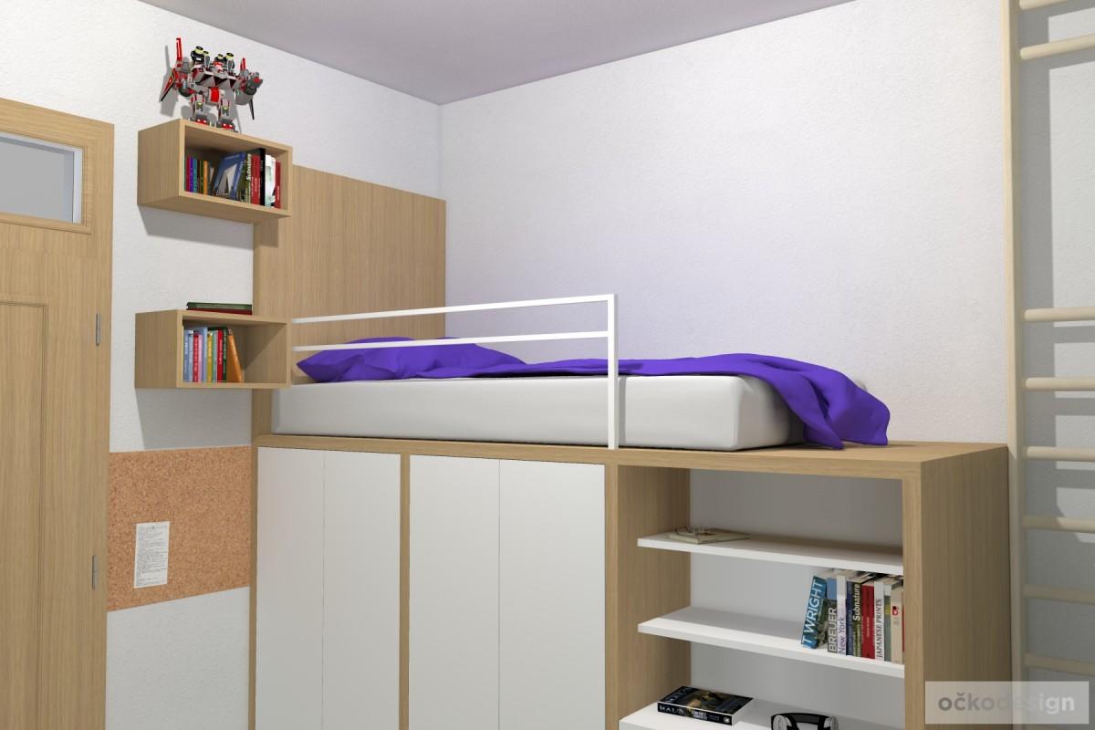 06 3D návrhy dětských pokojů-krásné studentské pokojíky- designový dětský pokoj-petr molek-ockodesign