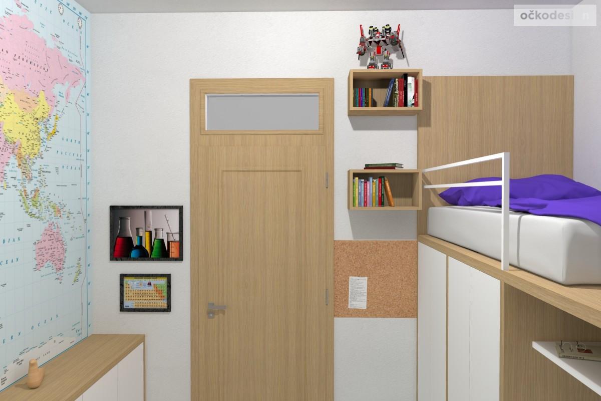 07 3D návrhy dětských pokojů-krásné studentské pokojíky- designový dětský pokoj-petr molek-ockodesign