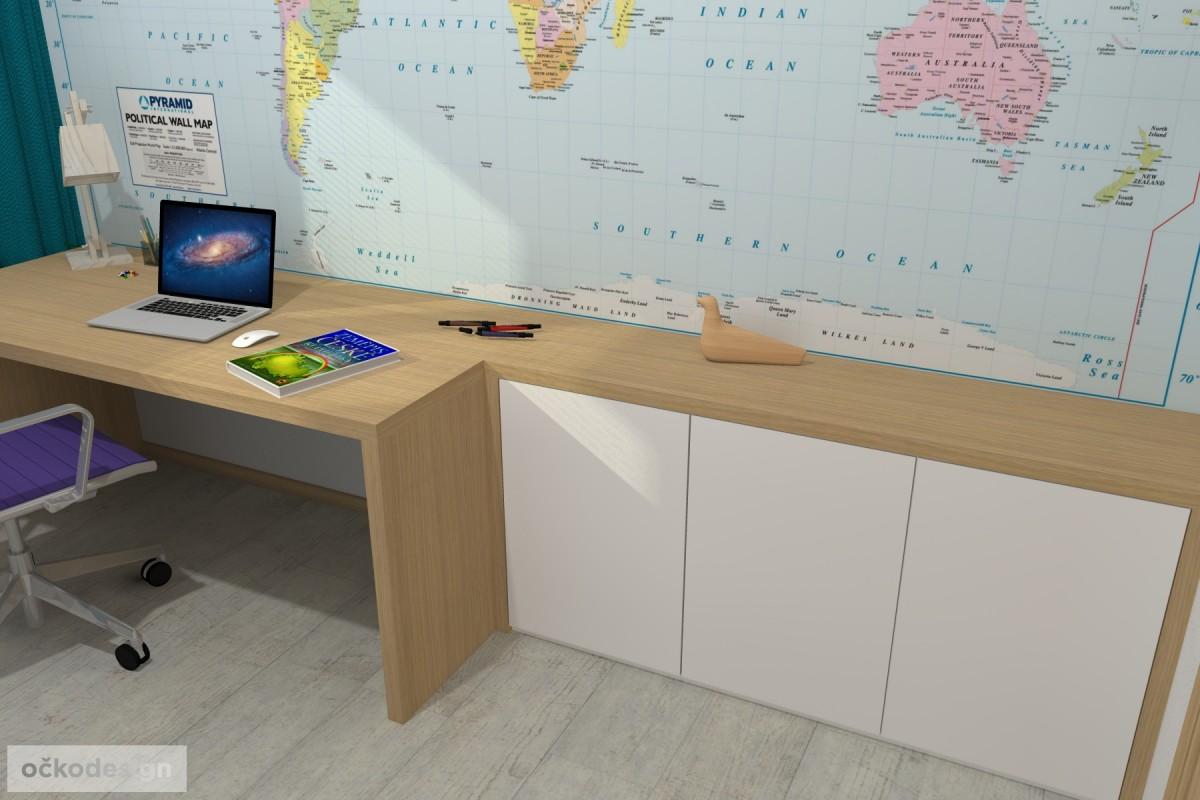 09 3D návrhy dětských pokojů-krásné studentské pokojíky- designový dětský pokoj-petr molek-ockodesign