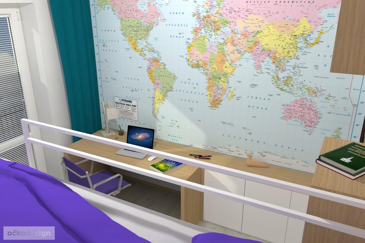 10 3D návrhy dětských pokojů-krásné studentské pokojíky- designový dětský pokoj-petr molek-ockodesign